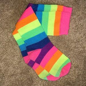 Adorable RAINBOW 🌈 🦄 knee high socks